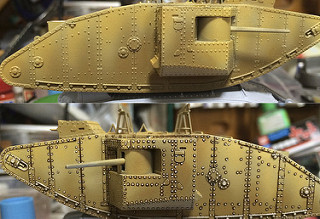 "Master Box 72003 ""MK I ""Male"" British Tank, Special Modification for the Gaza Strip "" -1"