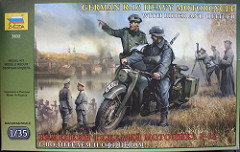 "[キットレビュー]ZVEZDA 3632 ""GERMAN R-12 HEAVY MOTORCYCLE WITH RIDER AND OFFICER"""