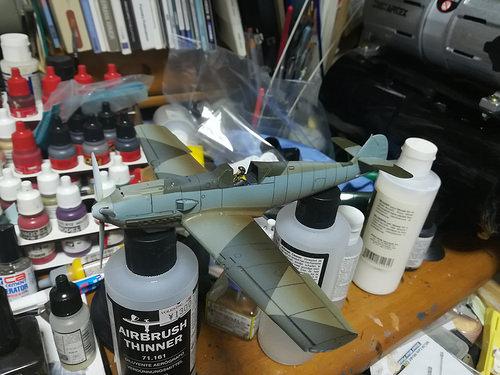 Airfix Bf109E その3